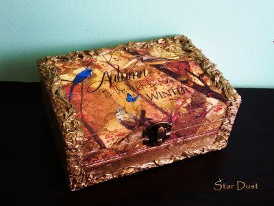 """Кутия за бижута """"Златна Есен"""""""